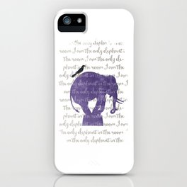 the only elephant iPhone Case