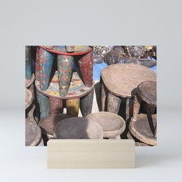 African village Mini Art Print