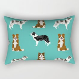 Border Collie mixed coats dog breed pattern gifts collies dog lover Rectangular Pillow