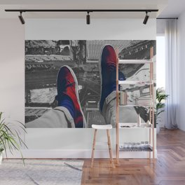 Rooftop shoes Wall Mural