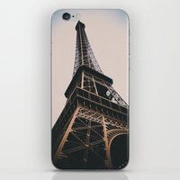 eiffel tower iPhone & iPod Skins featuring Eiffel Tower by Christine Workman