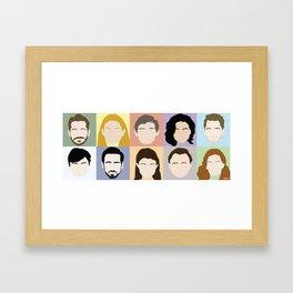 Once Upon A Cast Framed Art Print