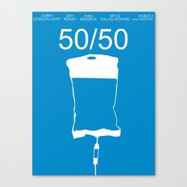 Minimalist 50/50 Canvas Print