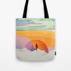 I Like to Watch the Sun Come Up - (White Version) Tote Bag