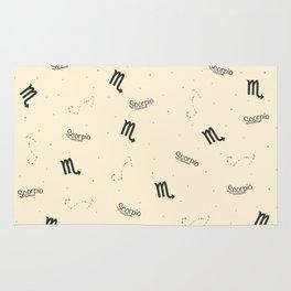 Scorpio Pattern - Beige Rug