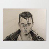 rockabilly Canvas Prints featuring Rockabilly by Brittany Ketcham