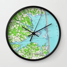 Vintage Rehoboth & Bethany Beach DE Map (1938) Wall Clock