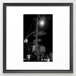 Harlem at Night Framed Art Print