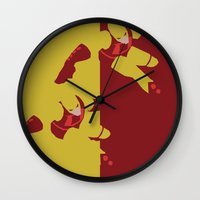 daredevil Wall Clocks featuring Daredevil by Young Jake