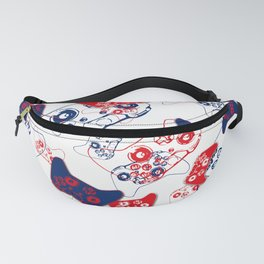 Video Game Red White & Blue 3 Fanny Pack