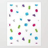 confetti Art Prints featuring Confetti by Eric Zelinski
