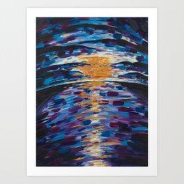 Driving Through - Abstract Acrylic Painting Art Print