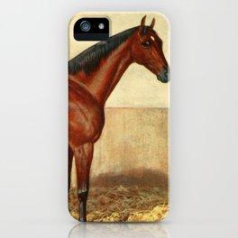 Vintage Stabled Horse Illustration (1905) iPhone Case
