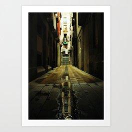 Barcelona Alley Art Print