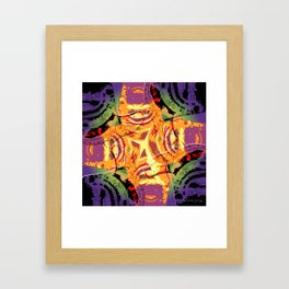 Taino Abstractions - Codo Litico II Framed Art Print