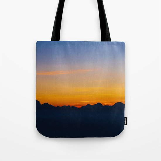Wispy Mountain Glow Tote Bag