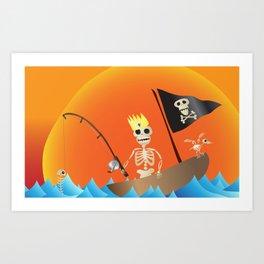 s/h/el/l/fish (voluntary human extinction: part ii) Art Print