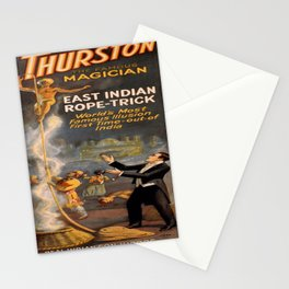Vintage poster - Thurston the Magician Stationery Cards