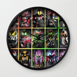 Kamen Rider Heisei Era Main Riders 20th Anniversary Wall Clock