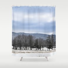 The Winter Line Shower Curtain