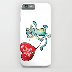 Happy Valentine's Day - Balloon heart and a kitten iPhone 6s Slim Case