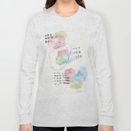 180805 Subtle Confidence 15 | Colorful Abstract |Modern Watercolor Art Long Sleeve T-shirt