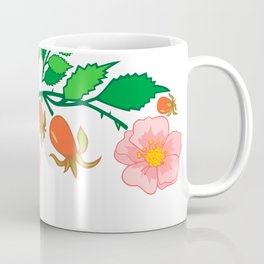 Abstract roses branch Coffee Mug