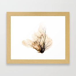 """""""Sea Fan Black"""" Framed Art Print"""