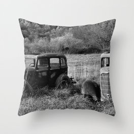 The two Old Timers Throw Pillow