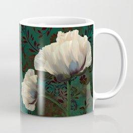 Poppies en Verdigris Coffee Mug