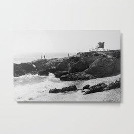 Leo Carrillo State Beach | Malibu California | Black and White Photography | Malibu Photography Metal Print
