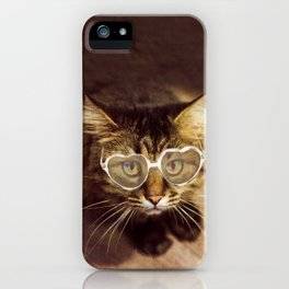 Hypnotic kitty with sunglasses iPhone Case