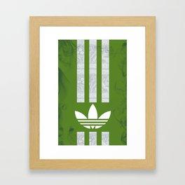 Unique Batik Adidas Army Green Case Framed Art Print