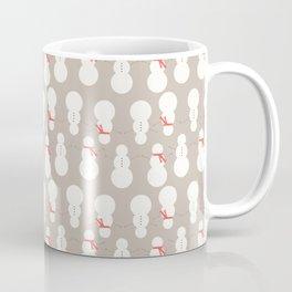 Christmas Snow Man Pattern Coffee Mug