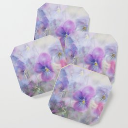 little pansies Coaster