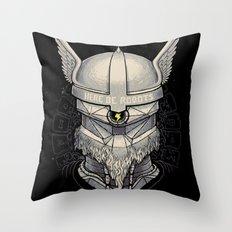 Viking robot Throw Pillow