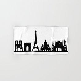 paris skyline Hand & Bath Towel