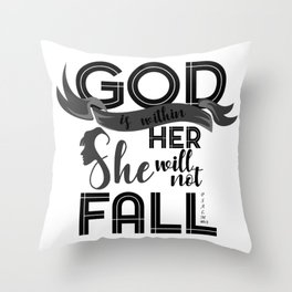 God Is Within Her She Did Not Fall Religion Christianity Gift Throw Pillow