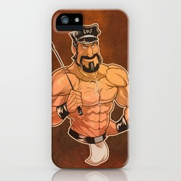 Be Good: Leather Muscular Man illustration iPhone Case
