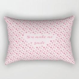 You Make Me Smile - Hearts Pattern Rectangular Pillow
