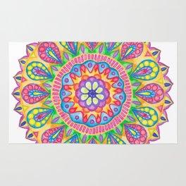 Summer Dewdrop Mandala Rug