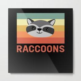 Raccoons Raccoon Animal Metal Print