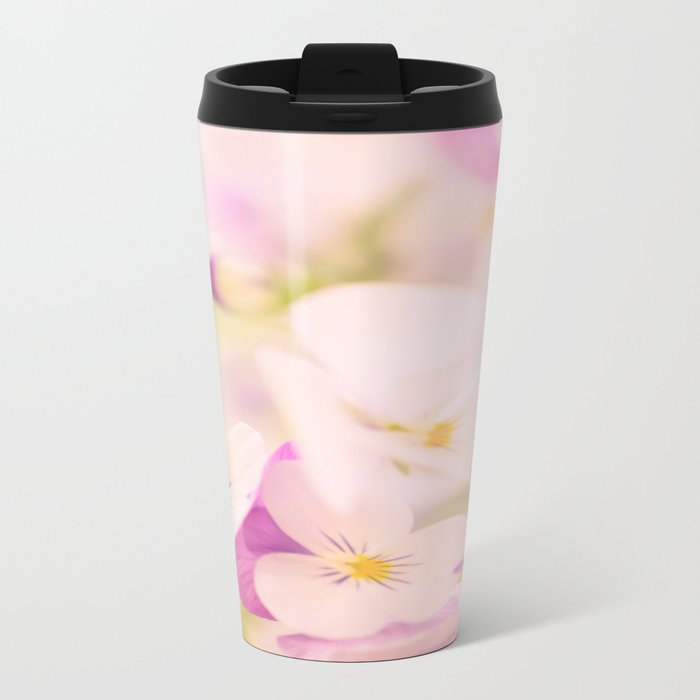 Something delicious and soft - violets in pastel colors - #Society6 #buyart Metal Travel Mug