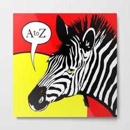 A to Zebra Metal Print