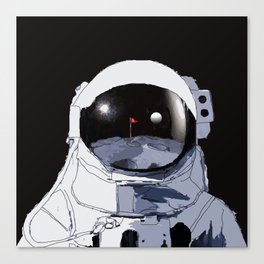 Astronaut Golf Course on the Moon Canvas Print