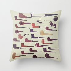 A pipe for every man Throw Pillow