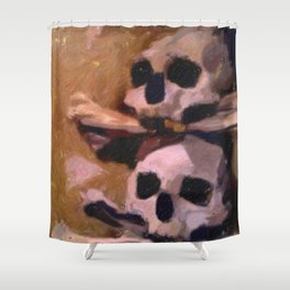 Bone Church, Kutna Hora Shower Curtain