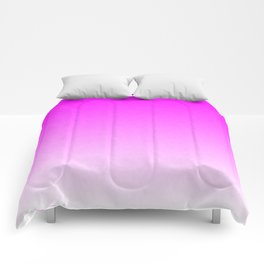 Pink Ombre flames Comforters