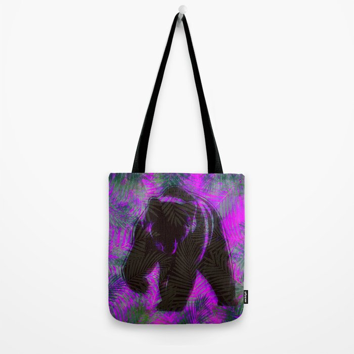 Bear with palm leaves Tote Bag