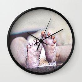 LITTLE FEET BIG FOOTPRINTS Wall Clock